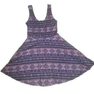 Forever 21 Aztec Print Summer Circle Dress